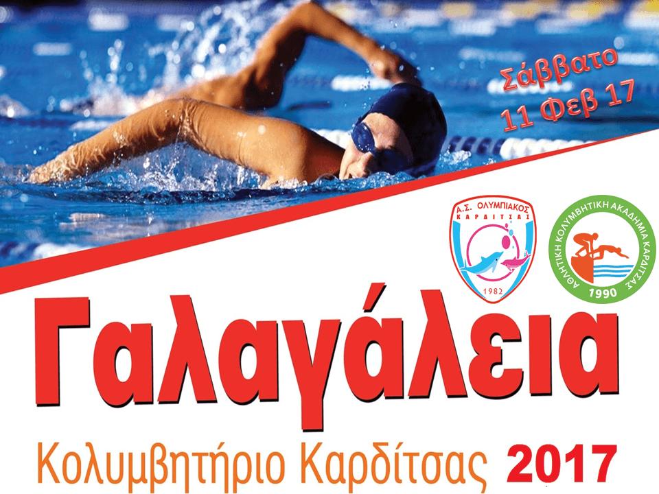 Γίνε αρωγός των Κολυμβητικών Αγώνων «Γαλαγάλεια 2017»