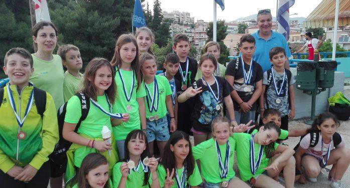 """24 μετάλλια στο """"1ο Swimming Cup Lamia 2018"""" για την Α.Κ.Α.Κ. & τον ΑΣΚ Ολυμπιακό"""